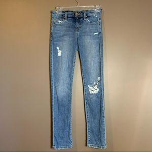 Joe's jeans distressed straight leg jeans